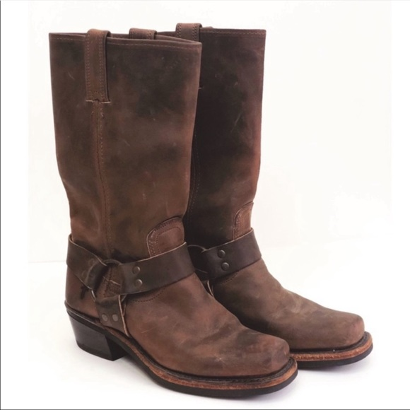 Frye Shoes - Frye Harness Boot Brown Size 6